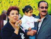 رجاء الجداوى وزوجها حسن مختار فى صورة نادرة مع الحفيدة روضة