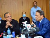 """اليوم السابع يدعم مبادرة """"لا للتعصب"""" بحضور وزير الرياضة ورئيس الأعلى للإعلام"""