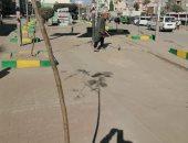 صور.. حى ثان المحلة ينفذ حملة نظافة مكبرة بشوارع المدينة