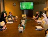 وزيرة الصناعة تبحث مع دبى للاستثمار خطط إنشاء مجمع استثمارى متكامل بالفيوم