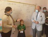 النائب حسام المندوه يتابع تطبيق الإجراءات الاحترازية وسير الدراسة في مدارس بولاق الدكرور