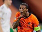 """هولندا ضد البوسنة.. فينالدوم يسجل ثنائية للطواحين ويدعم فان دايك """"فيديو"""""""