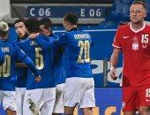 """إيطاليا ضد بولندا.. الآزورى ينهى الشوط الأول 1-0 بدورى الأمم الأوروبية """"فيديو"""""""