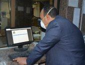 نائب محافظ المنيا يتفقد المركز التكنولوجى لمتابعة إجراءات استقبال طلبات التصالح