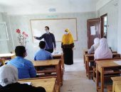 تنفيذ فعاليات توعية صحية لطلبة مدارس وسط سيناء للوقاية من كورونا.. صور