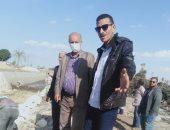 مستشار وزير الرى يتابع تنفيذ عمليات تأهيل وتبطين الترع بمحافظة بنى سويف