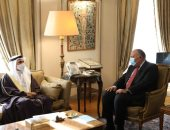 شكري يبحث مع رئيس البرلمان العربي ووفد رفيع المستوى مكافحة التطرف والإرهاب