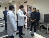 وزير الشباب والرياضة يتفقد مركز الطب الرياضى التخصصى بمدينة نصر