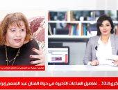 ابنة عبد المنعم إبراهيم تروى لتليفزيون اليوم السابع مواقف مؤثرة فى حياة الفنان الراحل