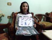 """""""ملك"""" طفلة من كفر الشيخ رفعت اسم مصر عاليا.. تعرف على اختراعها المتطور.. فيديو"""