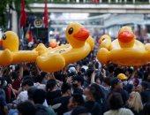 البطوط الأصفر  صديق المتظاهرين فى تايلاند.. ألبوم صور