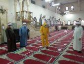 أوقاف الجيزة تواصل حملة النظافة وتعقيم المساجد استعدادا لصلاة الجمعة.. صور
