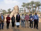 سفير أمريكا بالقاهرة يزور متحف ممفيس المفتوح بالجيزة.. صور