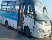نقل مصابى أتوبيس الرماية لمستشفى الهرم.. والأطفال تابعون لمدرسة خاصة بأوسيم