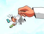 مروجو الشائعات عن فيروس كورونا فى كاريكاتير سعودى