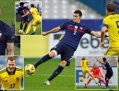 فرنسا تتأهل لنصف نهائى دورى الأمم الأوروبية برباعية ضد السويد