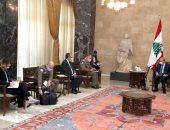 الرئيس اللبنانى يؤكد أن ترسيم الحدود البحرية يتم من خط نقطة رأس الناقورة