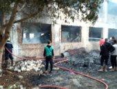 الحماية المدنية تسيطر على حريق هائل بمزرعة دواجن فى المنوفية.. صور