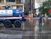 شركة الجيزة للشرب والصرف الصحى تنشر معداتها لشفط مياه الأمطار بشوارع المحافظة