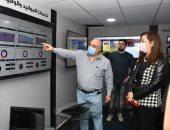 هالة السعيد تتفقد جناح الوزارة بمعرض القاهرة الدولى للاتصالات CAIRO ICT2020