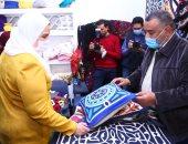 وزيرة التضامن تفتتح معرض أثاث دمياطى ومستلزمات الأثاث للأسر المنتجة بالمنيا