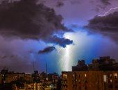بريق السماء .. قارئ يشارك بصور للعاصفة الرعدية بالإسكندرية
