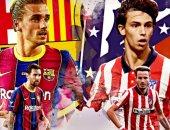التشكيل الرسمى لقمة أتلتيكو مدريد ضد برشلونة بالدوري الإسباني