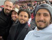 حسام غالى ينشر صورة مع تريزيجيه وحجازى من ملعب مباراة ليفربول وأتلتيكو مدريد