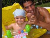 شريف إكرامى يحتفل بعيد ميلاد ابنه ياسين بصور من مراحل عمرية مختلفة