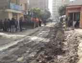 توسعة وتطوير شارع عثمان أحمد عثمان بالطالبية في الجيزة.. صور