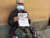 تغريم مشرد فى إيطاليا 280 يورو بسبب حظر التجوال المفروض لمواجهة كورونا