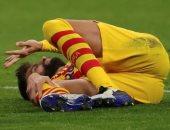 برشلونة مهدد بفقدان بيكيه من 4 إلى 6 أشهر بسبب الإصابة