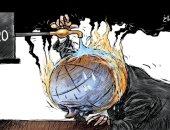 كاريكاتير صحيفة سعودية.. مجموعة الـ20 تسعى لإطفاء حرائق المناخ