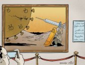 كاريكاتير صحيفة إماراتية يرصد معاناة الإنسان فى زمن الكورونا