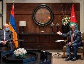 الملك عبدالله الثانى يبحث مع رئيس أرمينيا جهود تحقيق السلام فى المنطقة