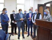 رئيس جامعة بنى سويف يتفقد الاستعدادات النهائية لدار الضيافة