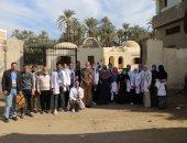 الكشف على 548 حالة ضمن قافلة جامعة الفيوم الطبية بقرية الكعابي