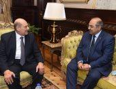 صور.. رئيس الشيوخ يستقبل هشام حطب للتهنئة والتعاون بين المجلس واللجنة الأولمبية