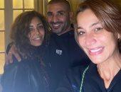 بسمة وهبة تشوق الجمهور بصورة مع أحمد سعد وخطيبته علياء بسيونى