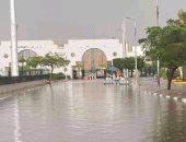 الأمطار تغرق مدخل استاد القاهرة قبل 48 ساعة من نهائى القرن