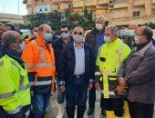 محافظ الإسكندرية : تطبيق الخريطة الجديدة لتنظيم تصريف تراكمات الأمطار