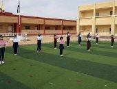تلاميذ ومعلمون بقرية الروضة في سيناء يحيون الذكرى الثالثة لحادث المسجد.. صور