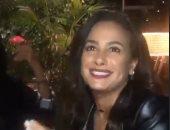 هند صبرى تحتفل بعيد ميلادها بحضور ليلى علوى ويسرا وإلهام شاهين..فيديو وصور