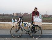 محل الموبيل على عجلة.. طالب ثانوى يرفض انتظار الشهادة و يصنع مشروعه الخاص