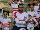 """قارئ يشارك بصور """"لا للتعصب"""" مع عائلته بالإمارات قبل مباراة الأهلى والزمالك"""