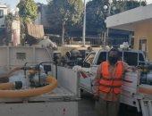 مواتير لشفط المياه من شوارع مدينة ببا جنوب بنى سويف تحسبا لسقوط أمطار