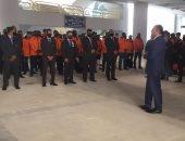 أول صورة لانتشار رجال الأمن باستاد القاهرة لتأمين النهائى الأفريقى