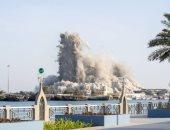 شركة إماراتية تدخل موسوعة جينيس بهدم أطول مبنى بالمتفجرات في ثوان..فيديو وصور