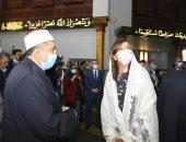 وزيرة الهجرة تنشر صورها من داخل مساجد دمياط.. وتعلق: نشكر ربنا على نعمة الوطن