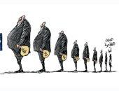 الأولوية فى توزيع لقاح كورونا للدول الكبرى بعد دفع أموال فى كاريكاتير سعودى
